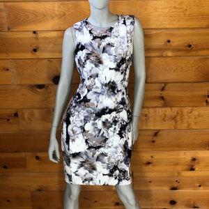 Calvin Klein NWT White Floral Sheath Dress 10